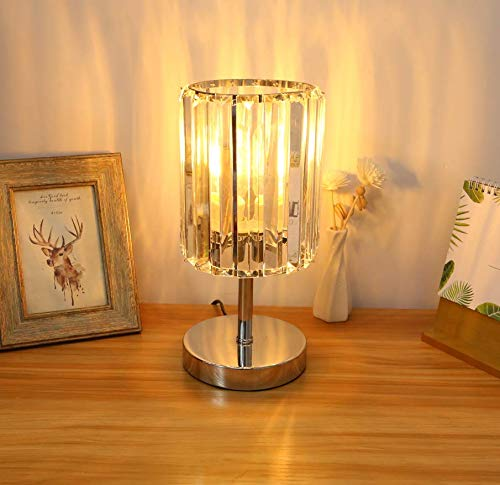 Modern Crystal Table Bedside Lamp, Acaxin 12