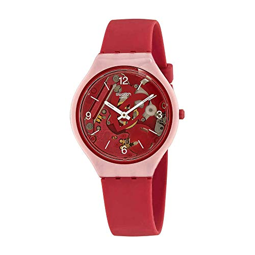e6a6e48d2 the best watches for teenagers guys gals com swatch skin skinamour pink  skeleton dial silicone strap