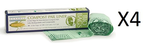 (RSVP 100% Biodegradable Compostable Liners/Bags 50 Pack 6 L GMO Free)