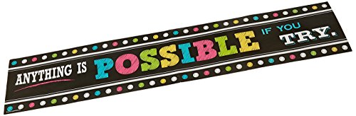Teacher Created Resources Chalkboard Bright's Anything is Possible Banner (Classroom Banners)