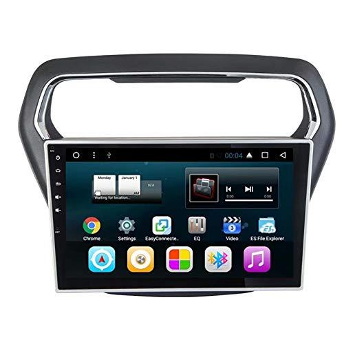 TOPNAVI Indash 10.1Inch Vidéo pour Ford Escort 2014 2015 2016 Android 7.1 Voiture Audio Stéréo Radio Navigation GPS avec 2 Go de RAM 32 Go ROM WiFi 3G RDS Lien Miroir