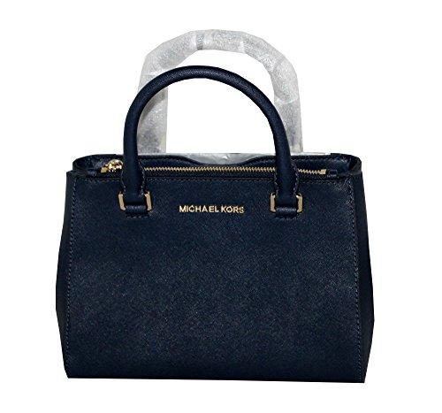MICHAEL Michael Kors Women's KELLEN XSMALL SATCHEL Leather Shoulder Handbags (NAVY) by MICHAEL Michael Kors