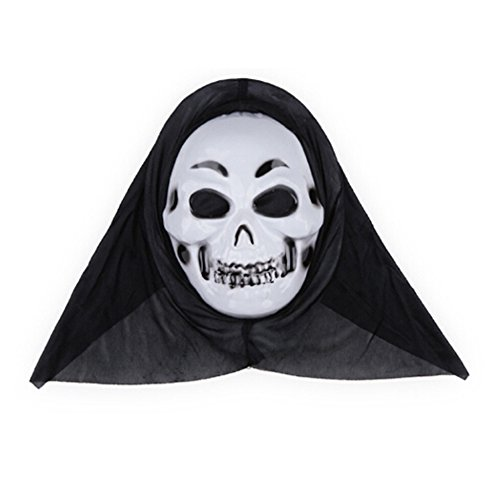 [Spritech(TM) Halloween Eyebrows Devil Masquerade Party Head Mask White] (Fox Hunter Halloween Costume)