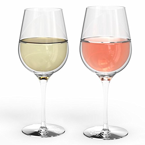 iBar Set 2 DOUBLE WALL THERMALWINE GLASSES(20 oz) - Keep fresh wine longer - Ideal for Rosé and White wine