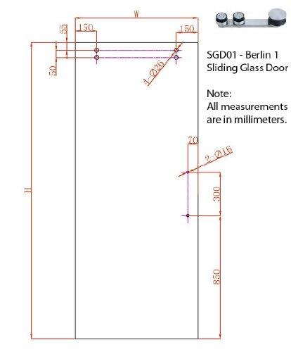 BERLIN - 2.5M - DOUBLE Sliding Glass Door Hardware (100'' opening - Max 2 - 50'' doors) by LuxuryModernHome.com (Image #8)