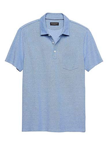 - Banana Republic Mens Moisture Wicking Pique Polo Shirts Antique Blue (X-Large)