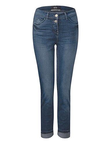 Cecil mid Wash Para Azul 10314 Used Mujer Blue Pantalones TOvgqxTZ6