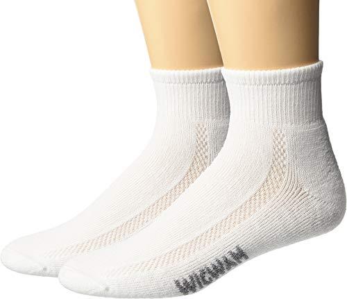 Wigwam Distance Quarter Sock - 2 Pack,White,Medium - Socks Wigwam Quarter