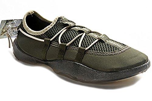 Tosbuy Man's Slip on Water Shoes,beach Aqua, Outdoor, Running, Athletic, Rainy, Skiing, Climbing, Dancing, Car Shoes for Men & Women 37 EU (6.5 M US Women), Dark Green)