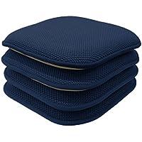 GoodGram 4 Pack Non Slip Honeycomb Premium Comfort Memory...