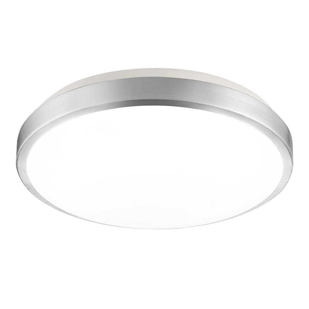 LED天花燈現代吸頂燈圓形燈罩簡約設計吸頂燈可調光白色裝飾亞克力燈客廳臥室兒童房24WØ39* H10cm白光  3種顏色的光 B07SW29RF8