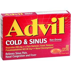 ADVIL COLD SINUS CAP 20CP PFIZER CONS HEALTHCARE NO POST