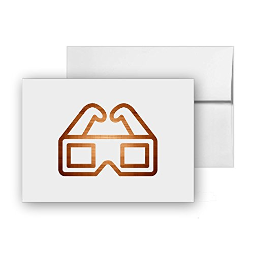 3D-eyeglasses Movie Shape, Blank Card Invitation Pack, 15 cards at 4x6, with White Envelopes, Item 187585