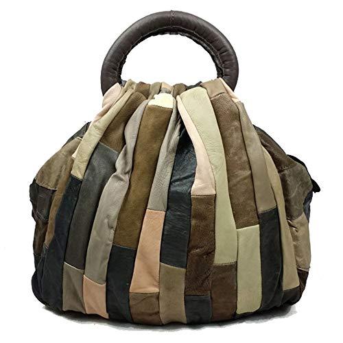 Bandolera Retro Costura Magnética Muñeca Travelbags Bolso Mujer Embrague Hebilla Tote Monedero Xuanbao De Shoulder Gris color La Del Cartera Cuero Marrón Mensajero Para qaxPO6f