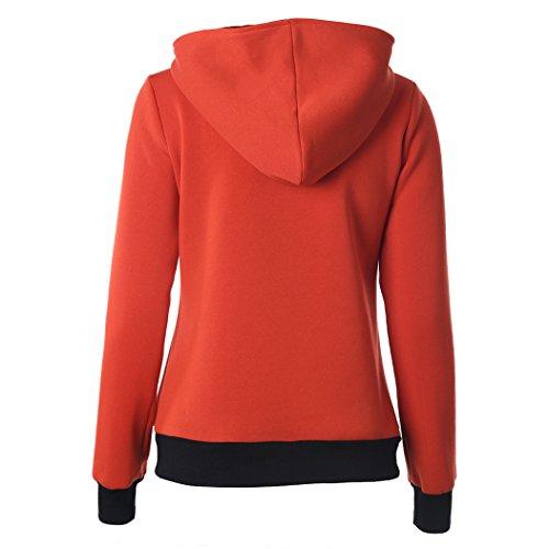 MTTROLI - Sudadera con capucha - para mujer naranja