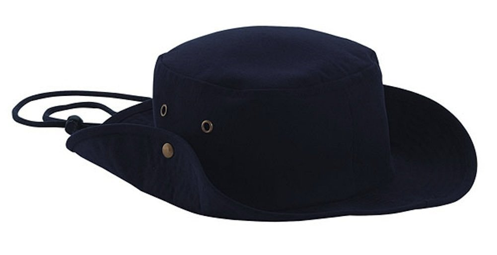 Aussie Style Outback Cotton Hat (Navy Blue)