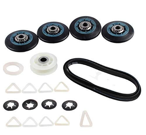 Compatible Belt & Rollers Repair Kit for WED8300SW2, Maytag MEDE200XW1, WGD9151YW0, Kenmore/Sears 11069822800 Dryer