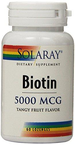 - Solaray Biotin Lozenge, 5000 mcg, 60 Count