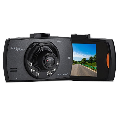 Dash Cam, HighSound 1080P Car DVR Dashboard Camera Full HD with 2.7″ LCD Screen 170° Wide Angle, Night Vision, WDR, G-Sensor, Loop Recording