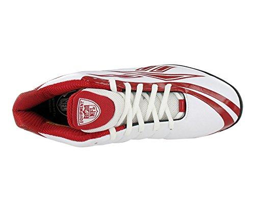 Reebok Mens Pro Burner Speed 5/8 Quag Fb Turf Scarpe Da Calcio Bianco / Rosso-promo