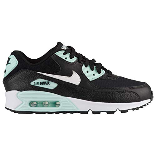 Nike Women's Air Max 90 Black/Summit White/Igloo-White Running Shoe 8 Women US (Nike Air Max 90 Leather Black Grey)