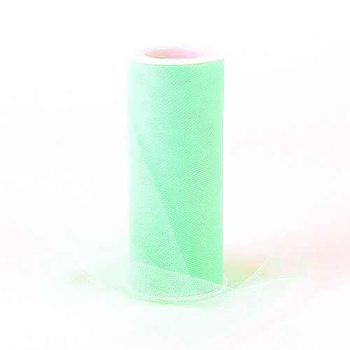 1/2' 100 Bows (Light Green Tulle Roll Spool 6