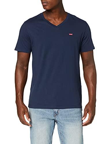 Levi's Orig Hm Vneck Camiseta, Azul (Dress Blues 0002), Large para Hombre