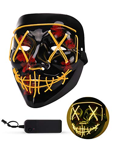 Person In Scary Costumes - Sago Brothers Scary Halloween Mask, LED