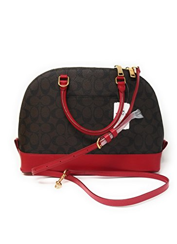 True Satchel Bag Sierra Signature Handbag Coach Red Purse Crossbody Brown nwq8agWOxE