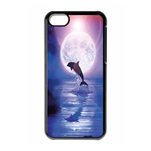 [MEIYING DIY CASE] For Iphone 5c -Dolphins and Sea Pattern-IKAI0447991
