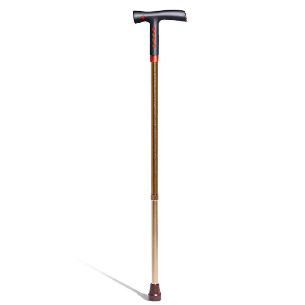 JINGLI WANGJINLI Elderly Walking Stick GPS Positioning Fall Alarm LED Lighting Aluminum Alloy Crutch