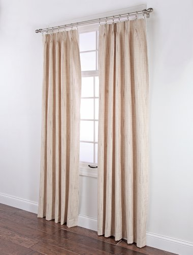 (Stylemaster Tucson Thermal Insulate Pinch Pleat Drapes, 144 by 84-Inch, Beige)