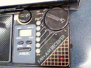 Travelers LCD Bands Model. MFR-88 FM/AM Receiver Clock Radio Model#MFR-88