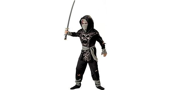 Amazon.com: Juego tabardo de zombie negro ninja para ...