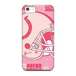 Iphone 5c Hard Back With Bumper Silicone Gel Tpu Case Cover Indianapolis Colts