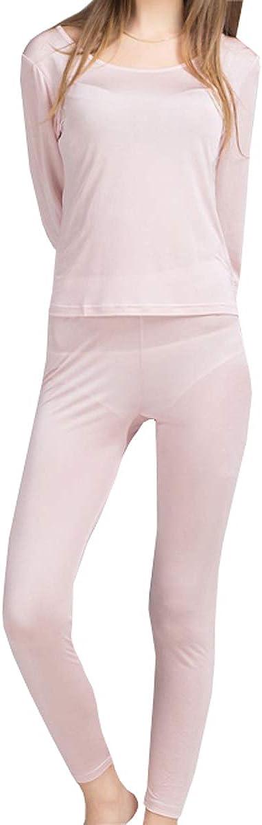 Silk Thermal Underwear Sets Winter Silk Long Underwear METWAY Womens Silk Long Johns