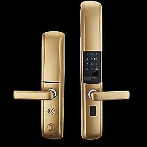 Lxj Huella Digital Cerradura Inteligente contraseña Bloqueo Cerradura Puerta Grande cerraduras electrónicas Inicio