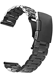 Vetoo 304 Stainless Steel 22mm Watch Bands for Pebble Time Steel,Classic,ZenWatch,Samsung Gear 2 ,G Watch