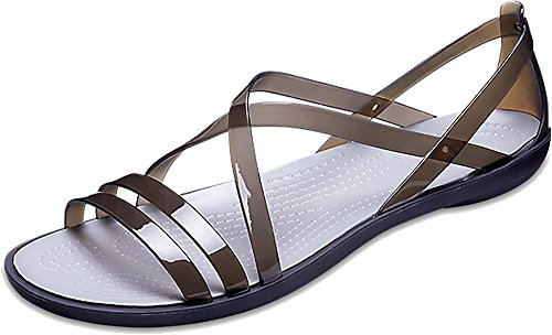 Black Women's Isabella Strappy Grey Light Sandal Crocs SIAPwpdqw