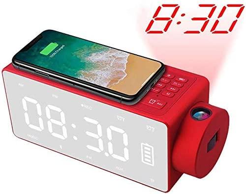 TEHWDE Despertador Proyector,Orador Reloj Despertador ...
