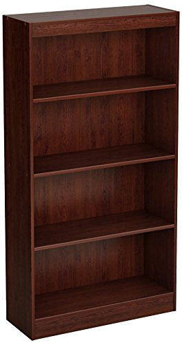 (South Shore 4-Shelf Storage Bookcase, Royal Cherry)