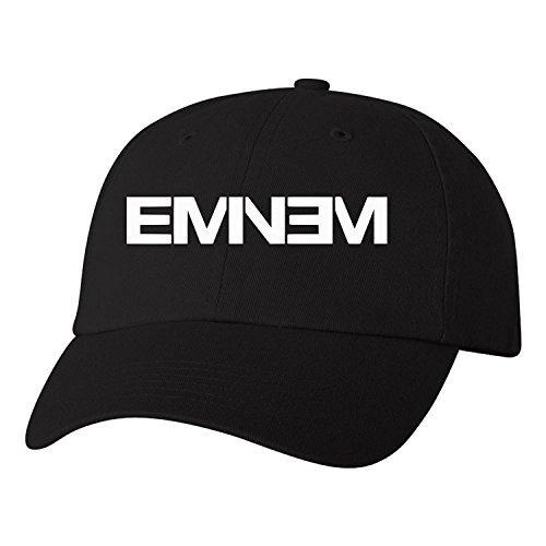 Magic Touch Eminem Logo Adjustable One Size Slim Shady Baseball Cap (White (Eminem Cap)