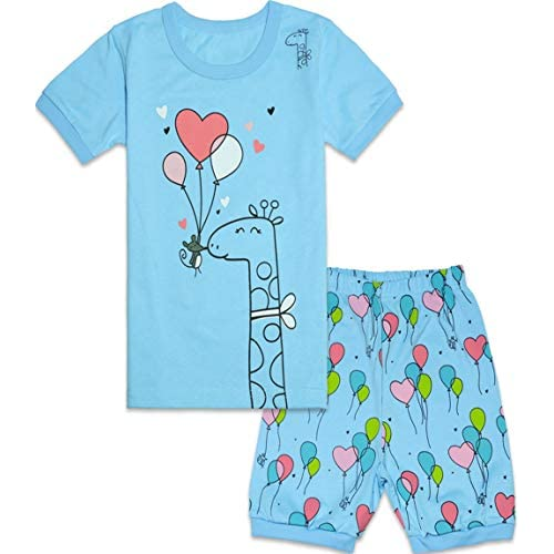Qtake Fashion Girls Boys Pajamas Summer Short Children Clothes Set 100/% Cotton Little Kids Pjs Sleepwear Size 12M-12Years