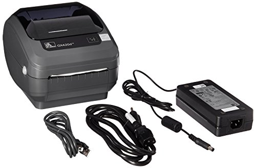 Zebra GX420d Monochrome Desktop Direct Thermal Label Printer with Fast Ethernet Technology, 6 in/s Print Speed, 203 dpi Print Resolution, 4.09'' Print Width, 100-240V AC by Zebra