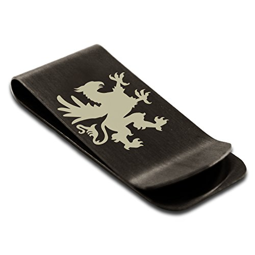 Griffin Steel Stainless Grandiose Money Card Engraved Holder Credit Black Clip Tioneer wtZqASxw
