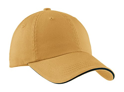 (Port Authority Men's Sandwich Bill Cap with OSFA Dandelion/ Charcoal Blue )
