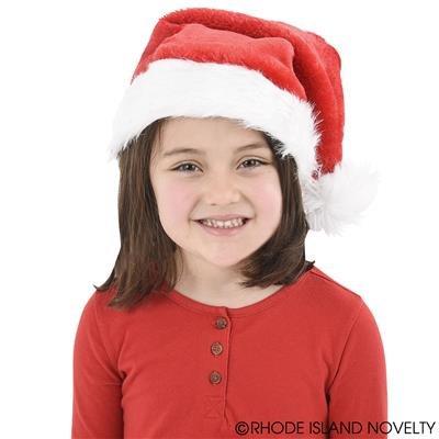 Rhode Island Novelty Adult Plush Santa Hats (1 Dozen), Red - Island Santa