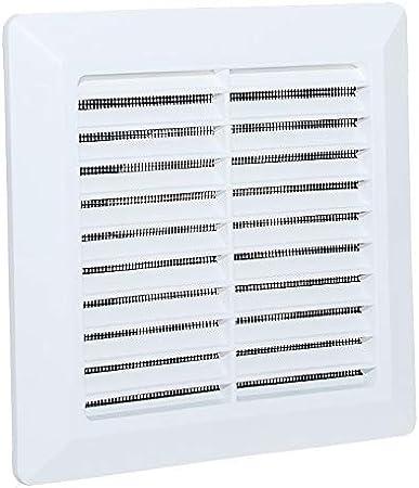 Rejilla de ventilación de plástico ABS, mosquitera, Blanco, Conexión Ø100mm