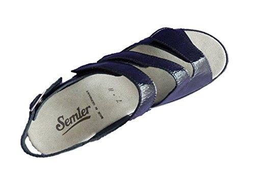 Semler Sandalette Sandalen Schwarz Weite H Leder