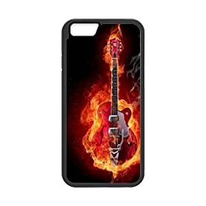 Custom Musical Instrument Guitar Design Rubber TPU and PC Case for Iphone 6,iphone 6 coque,apple IPhone 6 cover, Case Cover For Apple IPhone 6
